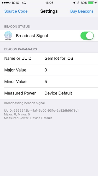 How to Configure your iPhone as an iBeacon Transmitter