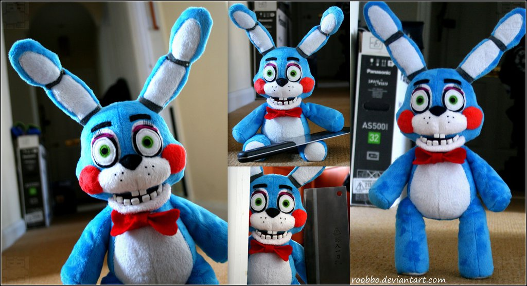 five_nights_at_freddy_s___toy_bonnie___plush_by_roobbo-d8phbvb