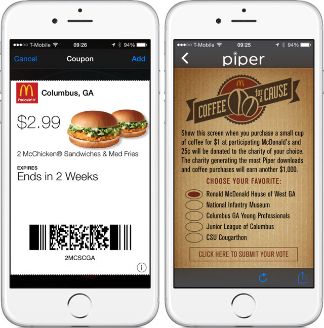 McDonalds used mobile payments to engage customers and increase sales