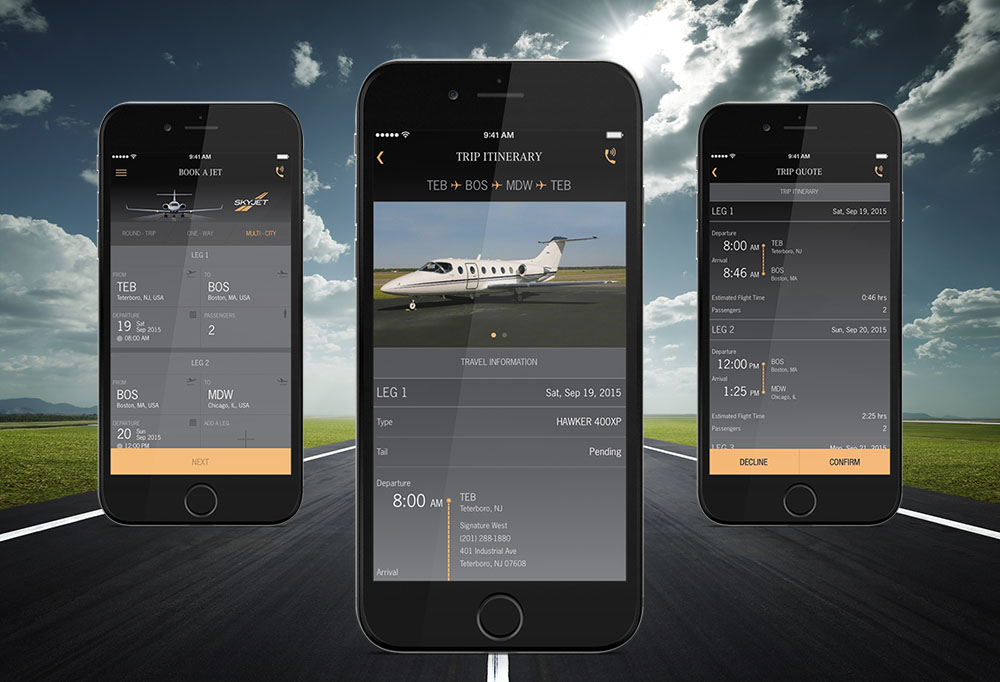 SkyJet Apple Pay experience