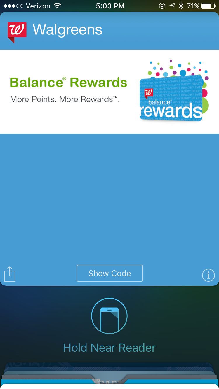 Here is an example of an NFC enabled loyalty card that integrates with Apple Pay