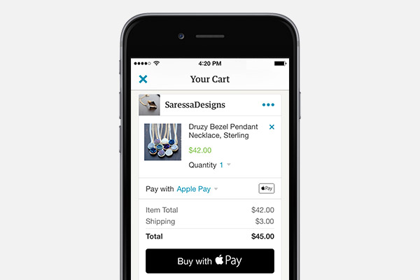 Apps are beginning to use Apple Pay which makes the buying experience much easier for the consumer.