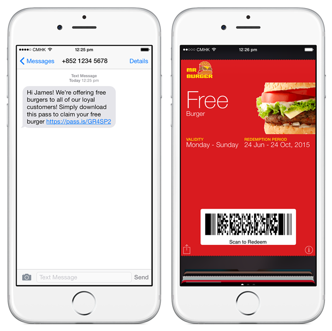 SMS campaigns are an extremely easy way to distribute mobile wallet content.