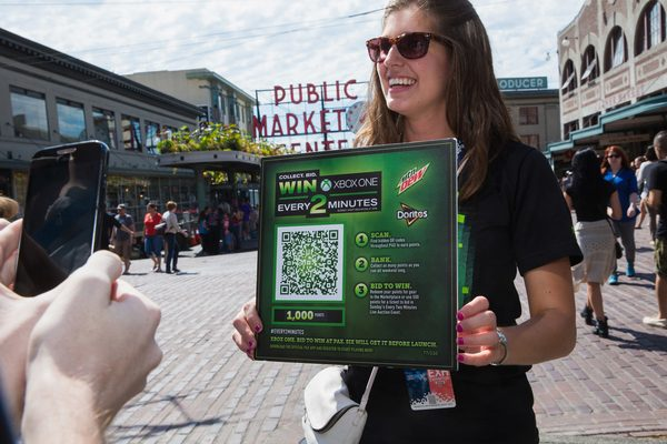 QR codes like this allow for promotional materials to become interactive and engaging.