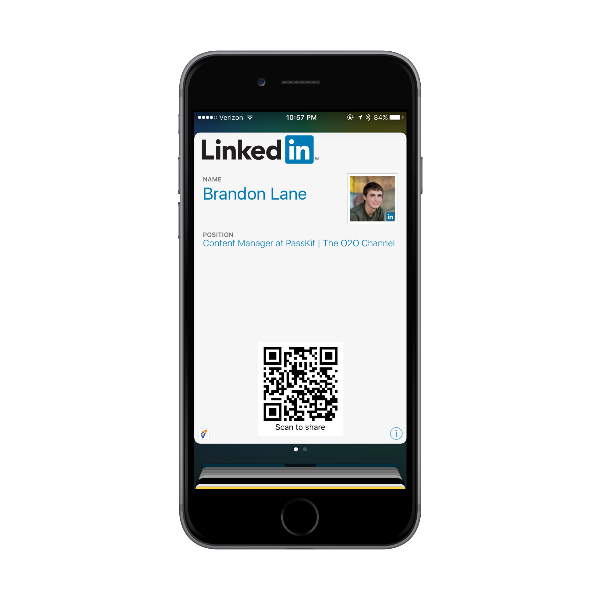 How to create a mobile linkedin business card img4147iphone6spacegreyportrait reheart Images