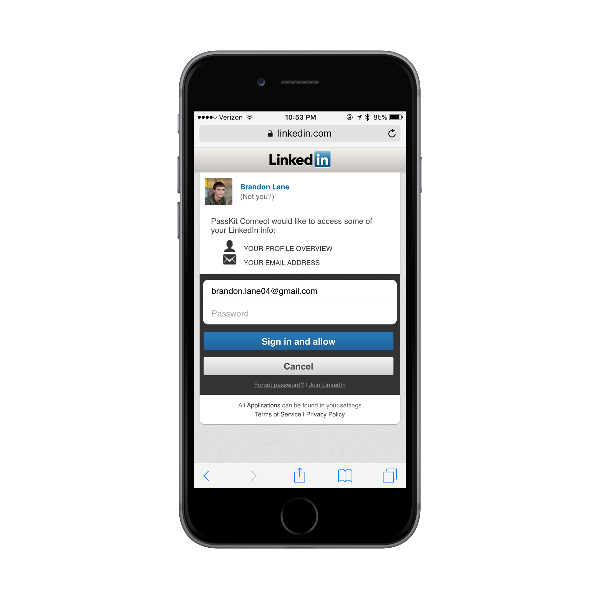 How to create a mobile linkedin business card img4143iphone6spacegreyportrait reheart Images