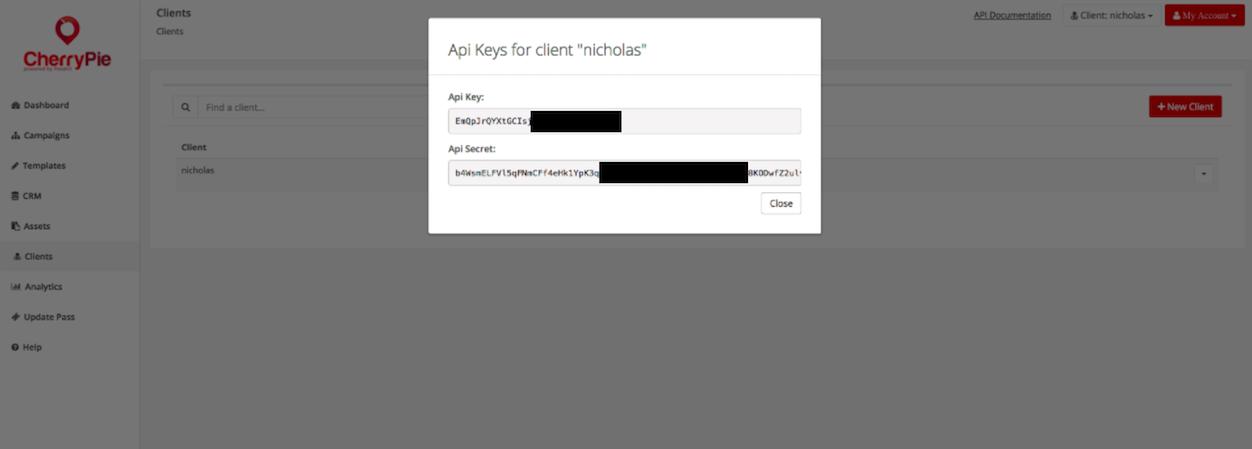 passkit api key and secret