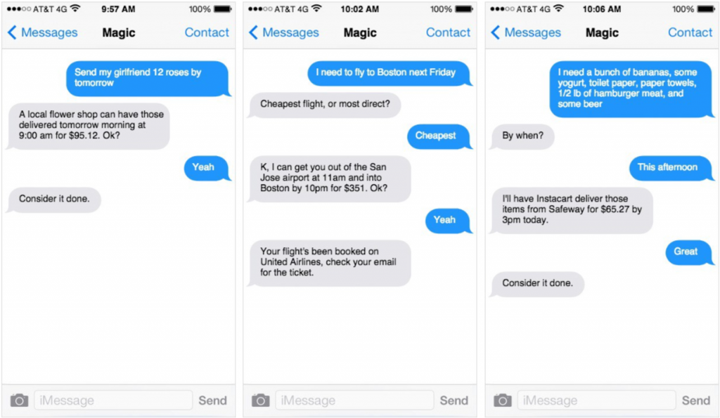 Magic Chatbot on Messenger
