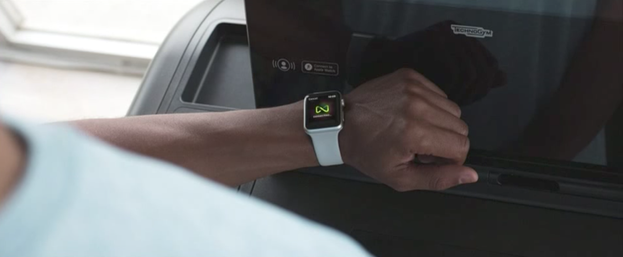 Apple watch connecting to gym equipment