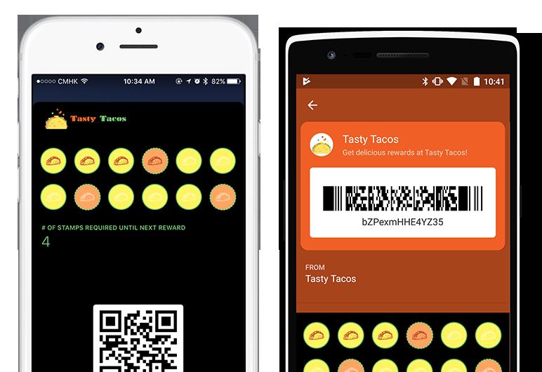 Digital loyalty cards for food trucks